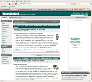 Hizook on Slashdot Frontpage (Aug 24th)