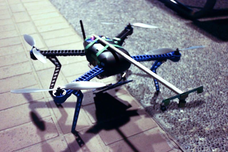 UAV with Boom for Sensor Tag Deployment
