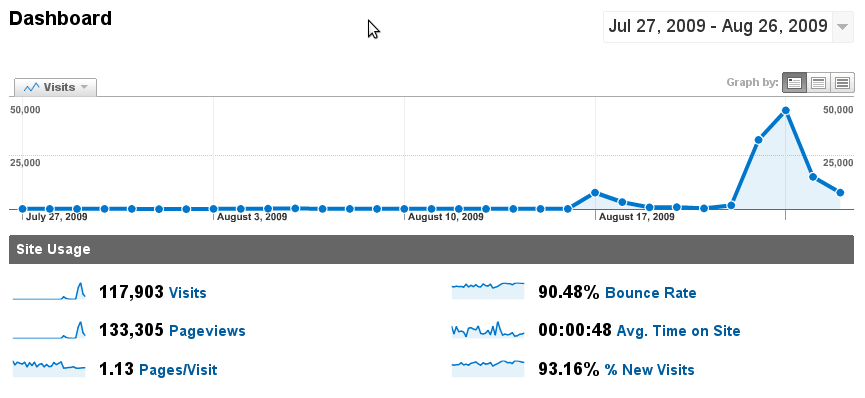 Google Analytics Spike
