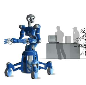 "CAD model of the Justin Humanoid Robot Mobile Base -- ""Rollin' Justin"""