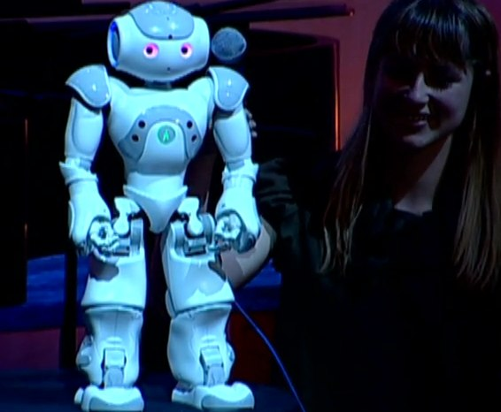 Nao Robot Performing Comedy