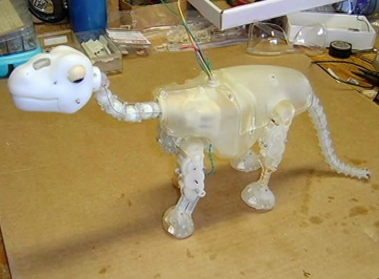 An early prototype of the Pleo Dinosaur Robot