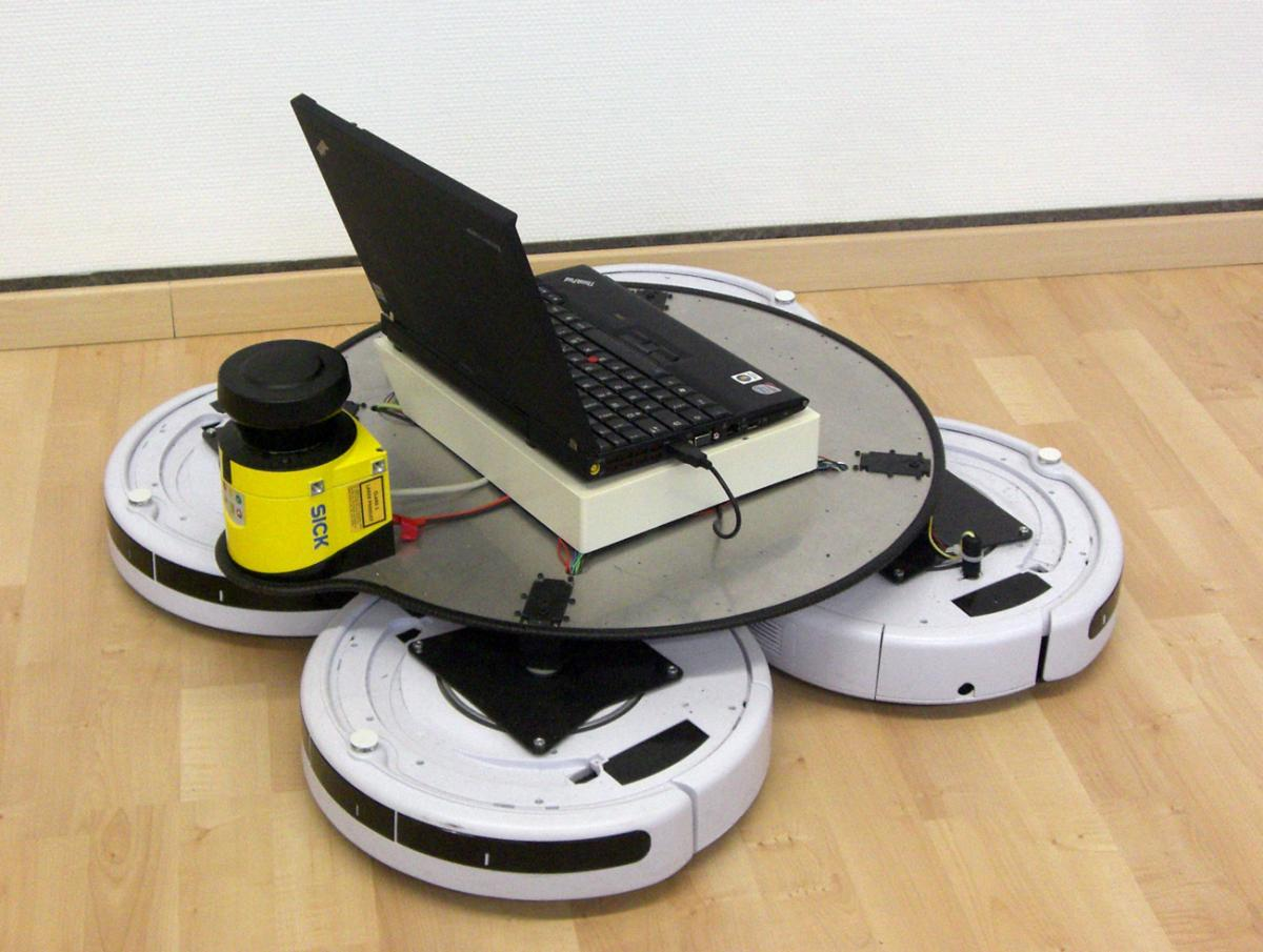 Roomba QuadDrive Omnidirectional Mobile Robot Base