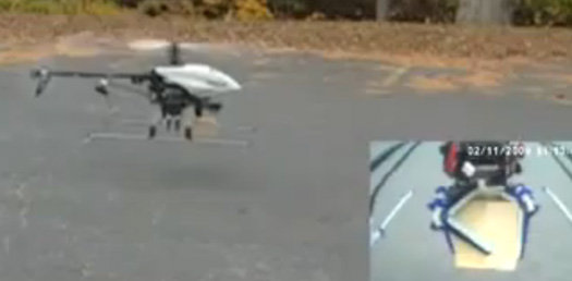 SDM Robot Hand on Helicopter