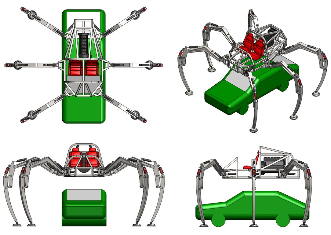 Stompy Rideable Spider Robot from Artisan's Asylum