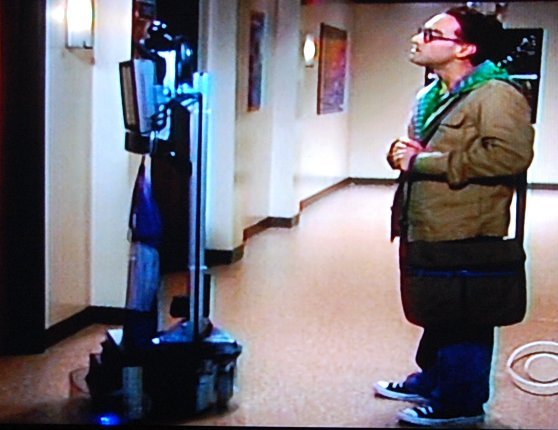 Texai Telepresence robot on Big Bang Theory