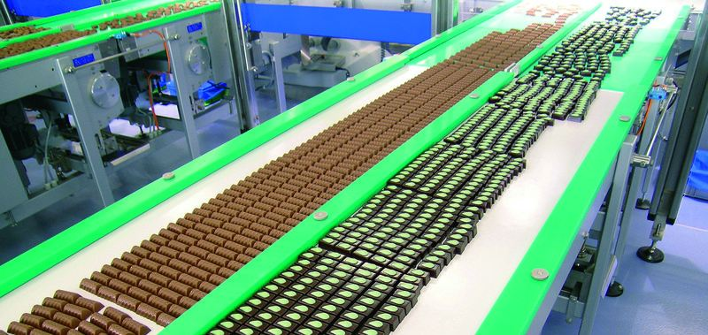 Conveyor belt parallelized placement