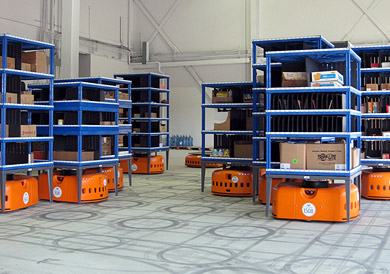 Kiva Systems robot warehouse fulfillment
