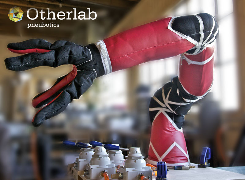 Soft, inflatable robot arm from Pneubotics (an Otherlab company)