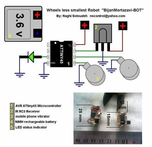 infrared remote controlled rc steerable vibrobot created by remote controlled rc vibrobot schematic
