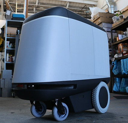 Scanse's Sweep on Dispatch Robotics' vehicle