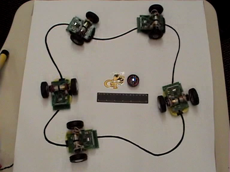 Wirelessly Powered Robot Swarm