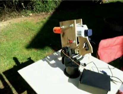 Squirrel-Shooting Robot Watergun